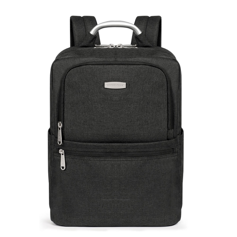 advocator metal handle black laptop bags 14 nylon waterproof business backpack men large capacity college