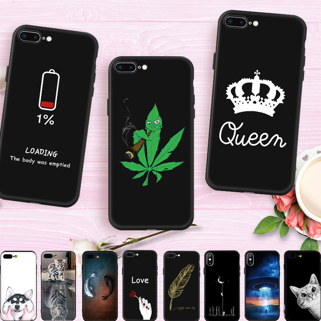 best service a48ac 800a6 US $0.57 30% OFF|GerTong Animal Cartoon Painted Phone Case For iPhone 7  Plus Case Soft Silicone Cover For iPhone 6 6S 7 8 Plus X Protective  Coque-in ...