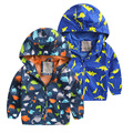 2016 New Boys Fashion Dinosaur Sport Jackets Children Outerwear Coat Hoodies Baby Kids Autumn Clothing Zipper Clothes Fit 1-7age