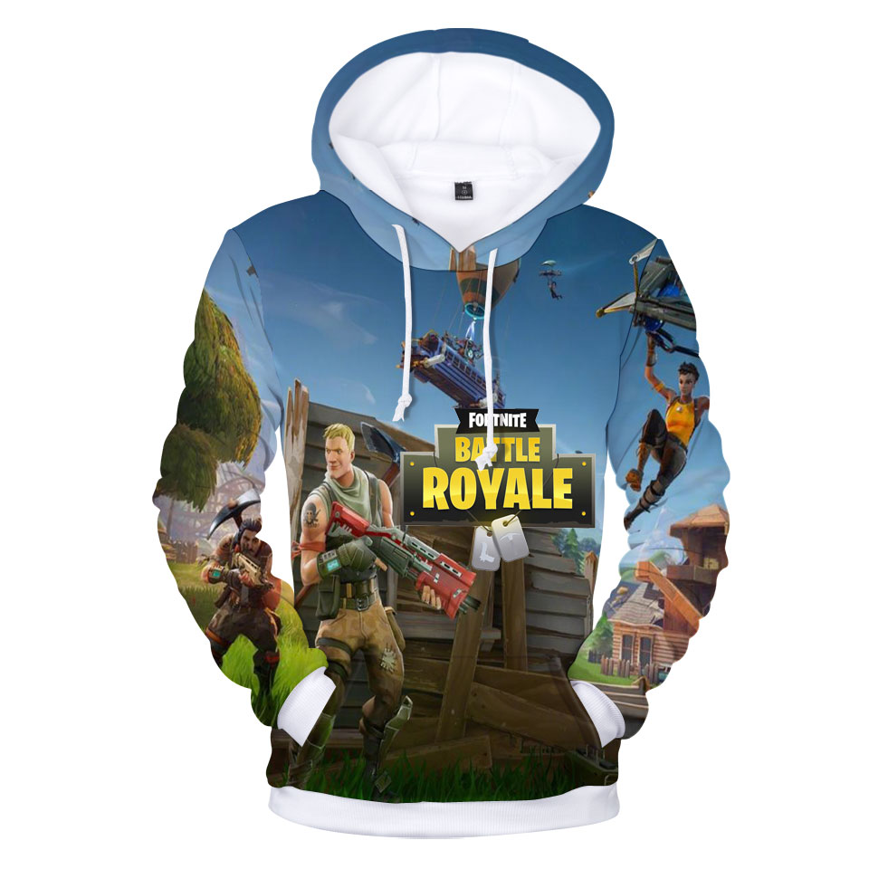 2018 New 3d Printed Fortnite Hoodies Pullover Plus Size 4xl