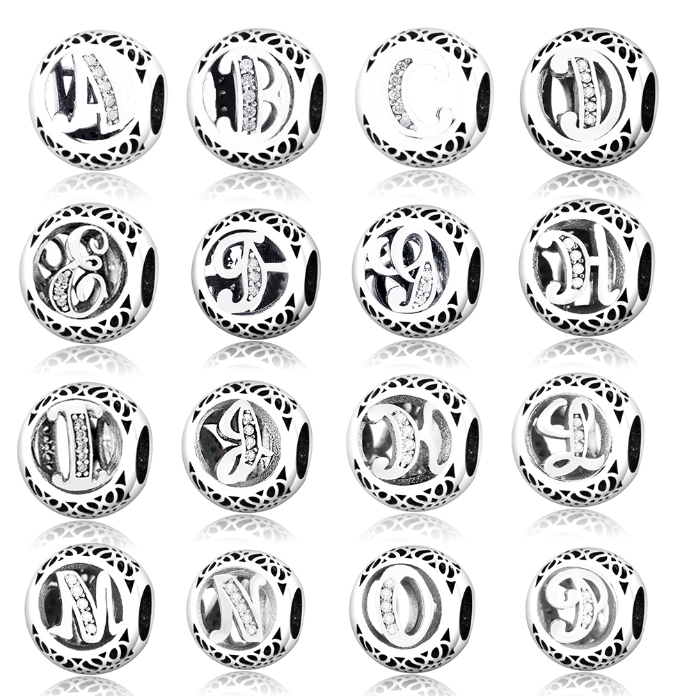 2017 Diy Fit Original Pandora Charms Bracelet Alphabet