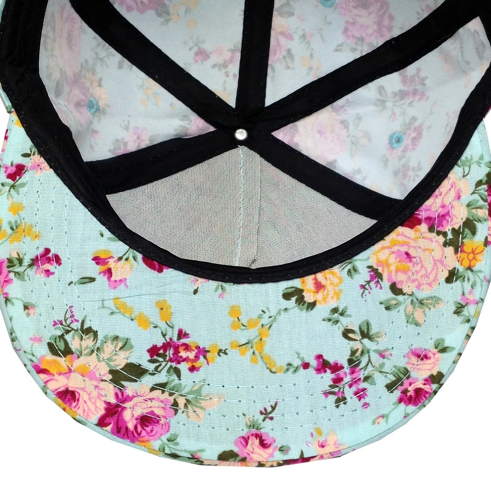 abdf0d08094 Men Women Baseball Cap Hip Hop Caps Floral Flower Snapback Hat Hip ...
