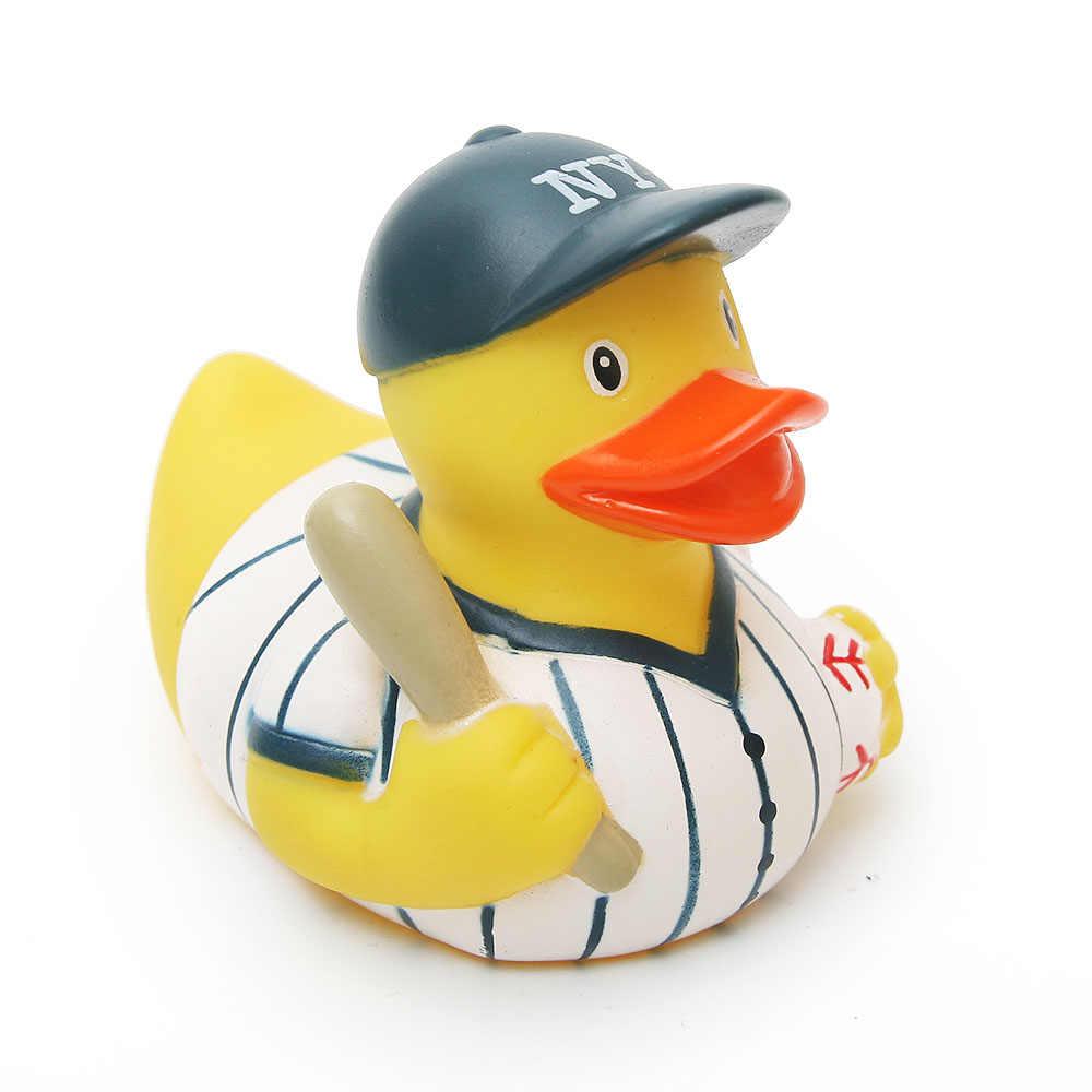 3 шт. Милая 8-10 см плавающая утка полицейский Бейсбол пожарные резиновая ducky детская игрушка для ванны Когнитивная игрушка для купания развивающие игрушки