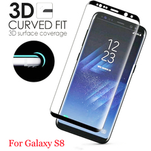hot deal buy 3d curved full cover tempered glass for samsung galaxy s8 s8 plus 9h screen protector protective film for samsung galaxy s8 plus