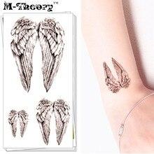 M-Theory Flash Tattoos Stickers Small Angel Wings Temporary Tatoos Body Arts 10.5x6cm Waterproof Swimsuit Bikini Makeup Tools