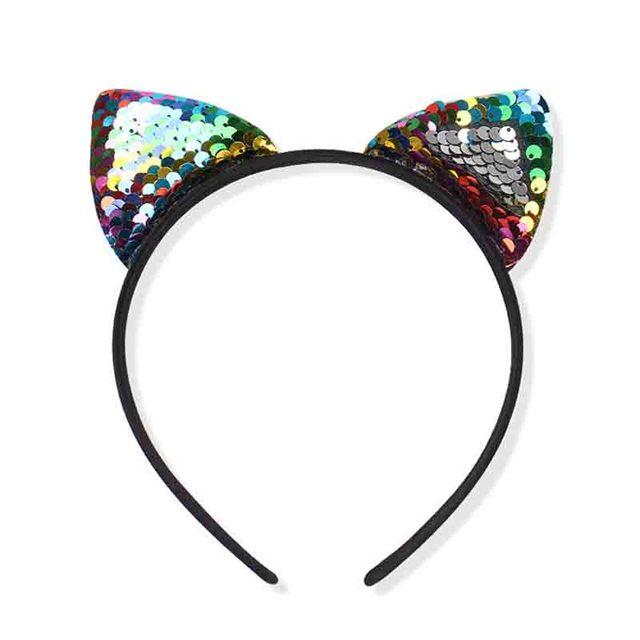 accesorio para el pelo TseenYi Bonita diadema antideslizante con orejas de gato con flores de papel joyer/ía para mujeres y ni/ñas morado horquilla