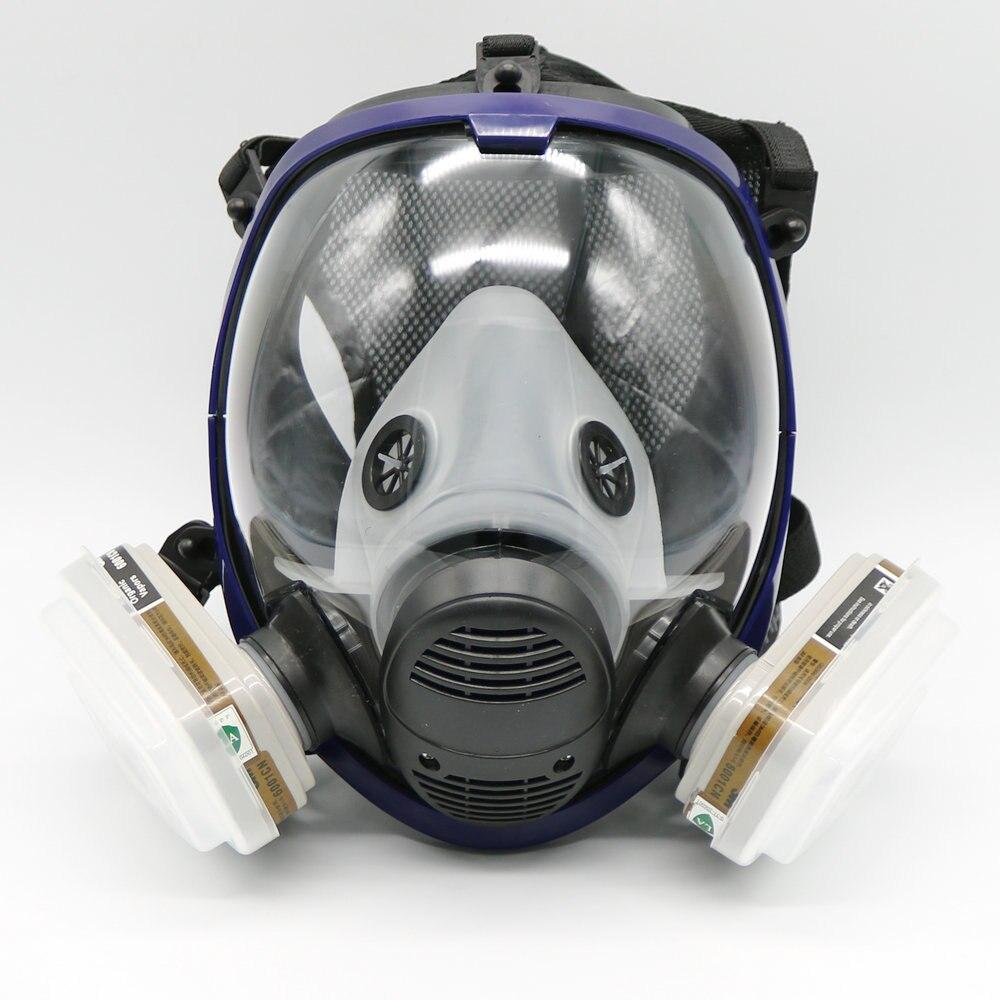 7 Pièce Plein Visage Masque Pour 6800 Gaz Masque Plein Visage Masque Respiratoire Pour La Peinture De Pulvérisation Livraison Gratuite
