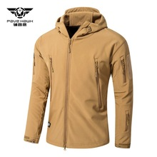 все цены на Autumn Winter men's soft shell jacket male warm fleece Liner hunting coat Outdoor sport combat softshell Camping & hiking jacket онлайн