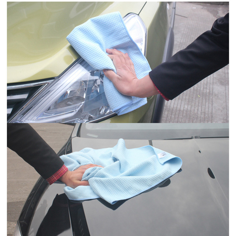 1pc 380gsm Microfiber Waffle Style Car Wash Towel Cleaning Cloth Water Absorption Dust Remove Detailing for Car Home Kitchen in Sponges Cloths Brushes from Automobiles Motorcycles