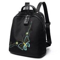 Fashion Women Backpacks Handmade Embroidery 3D Butterfly Elegant Backpack For Girls Mochila Escolar Travel Bags Female