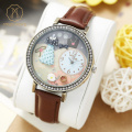 Miss Keke 3D Clay Girls Dress Cartoon Watch Quartz Designer Watches Diamond Children Leather Casual Wristwatch 671 montre enfant