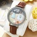 Miss Keke 3D Clay Girls Dress Cartoon Watch Quartz Designer Watches Diamond Children Leather Casual Wristwatch 671 montre enfant