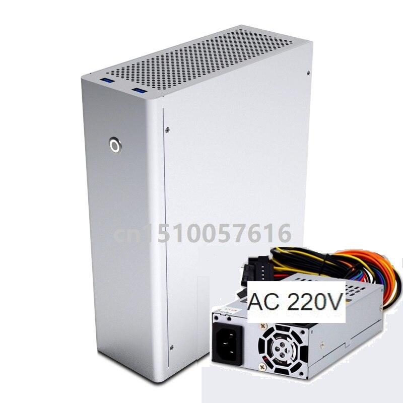Aluminum Computer case And 1U FSP250 power supply ITX  HTPC  Desktop Chassis  M1 computer case