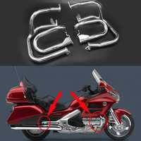 Front & Rear Iron Engine Case Guards Bars For Honda GOLDWING GL1800 2001-2016 GL1800A 2001-2005 Goldwing Protector Bumper