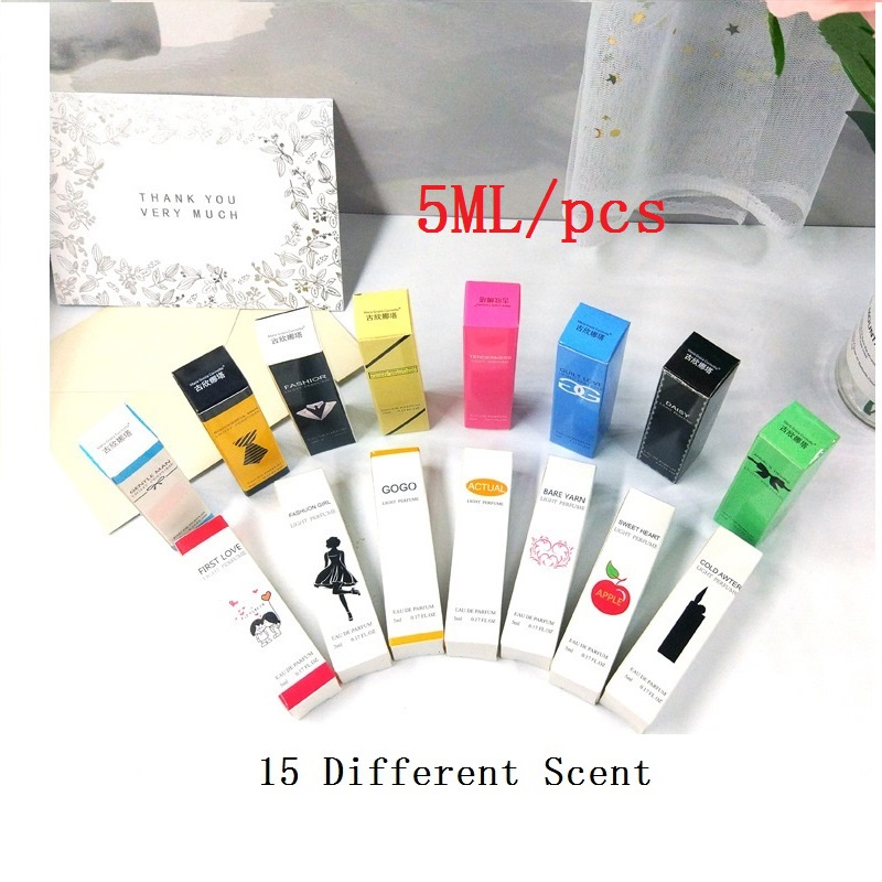 New Arrivals 15 kinds of perfumed selected 5ML men's fragrances and women's fresh and lasting light fragrance mini spacks street new and selected poems