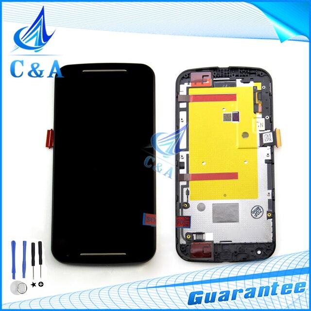 Для Motorola Moto G2 жк XT1063 XT1068 XT1069 Экрана Дисплея с Сенсорным Digitizer с Рамкой Ассамблеи с инструментами Бесплатная Доставка