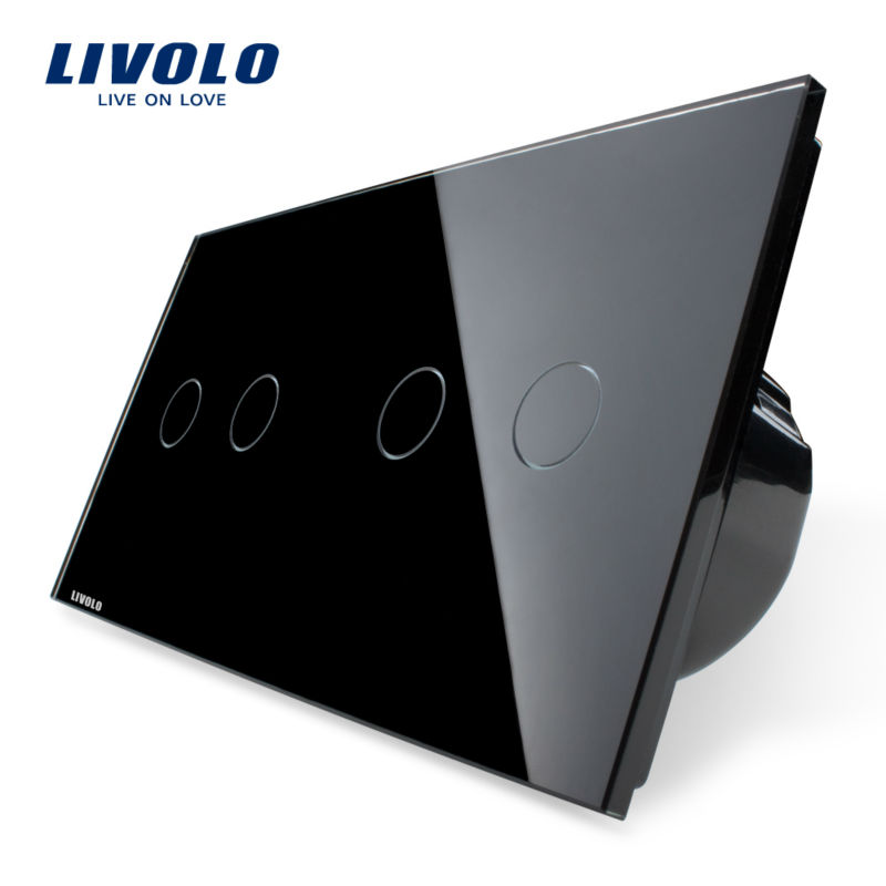 IC Origining from US ,4-Gang Touch Switch ,Luxury Crystal Glass Panel,Home Wall Light Switch, VL-C702-12/VL-C702-12 smart home us black 1 gang touch switch screen wireless remote control wall light touch switch control with crystal glass panel