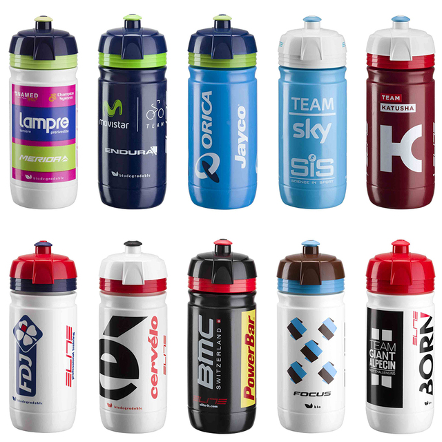 Elite Tour De France Team Edition Kettle Bicycle Water Bottle Cycling Sports Bottles Ag2r Sky Bmc