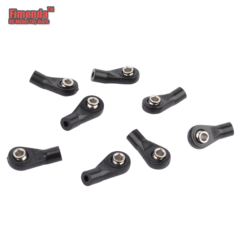 8pcs Plastic M3 Bent Ball Joints Rod Ball Ends Tie Rod End for Axial D90 SCX10 1/10 RC Rock Crawler Car Buggy Truck Width Balls