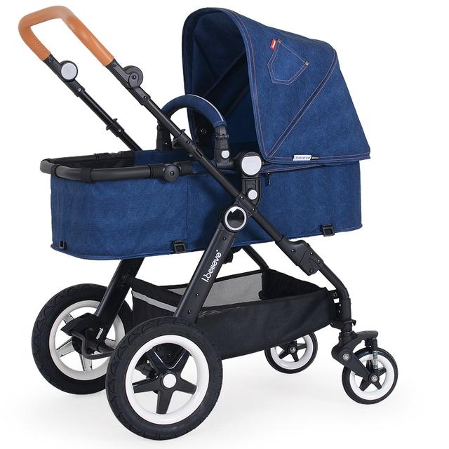 Moda de Alta Qualidade Cowboy Luxo Carrinhos de Bebê Carrinhos de Bebê Carrinho De Criança Dobrável de Liga de Alumínio À Prova de Choque de Carro Do Bebê para Recém-nascidos C01
