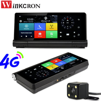 7 Touch 4G Sim Card Android 5.0 GPS Navigation Car DVR Camera WIFI Bluetooth FHD 1080P Dual Lens Rearview Camera Free Map