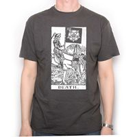 Tarot Card T Shirt Rider Waite Death Card T Shirt Occult Magic Goth EMO Summer Men'S fashion Tee,Casual Short Sleeve TEE