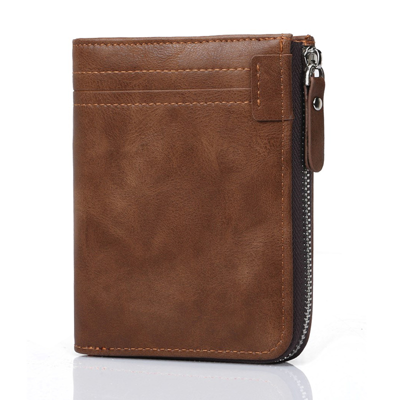 RFID Men Wallets Genuine Leather Wallet Male Purse Coin Pocket Business Card Holder Short Men's Purse Cow Leather cartera hombre brand high quality business genuine leather men wallet credit card holder black real leather vertical purse with coin pocket 50