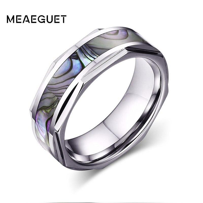 Borsette Intarsio Argento Dome Disegno Geometrico Bordi Anelli di Tungsteno Per Gli Uomini Dello Sposo Anniversario Di Fidanzamento Anello di Monili di Cerimonia Nuziale