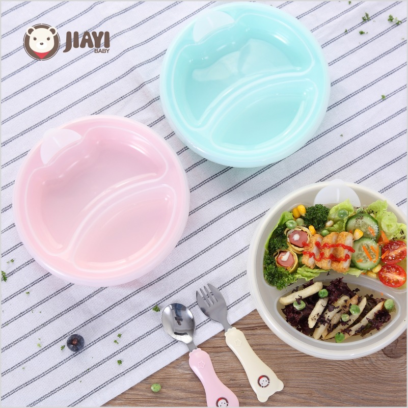 Baby Feeding Bowl Stainless Steel Cartoon Thermal Insulation Strong Suction Dishes With Fork Spoon Kids Training Bowls Warm Bowl
