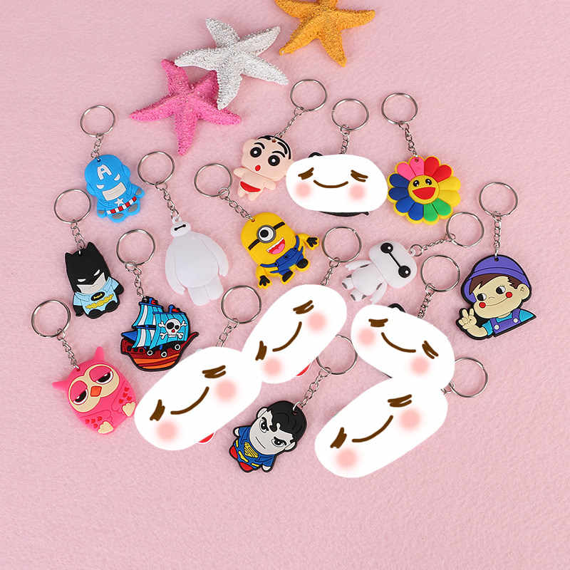 Baymax 1 pcs Mickey Minnie Urso Dos Desenhos Animados Titular do Anel Chave Keychain Japonês anime Chaveiro Chaveiro Bolsa charme Jóias