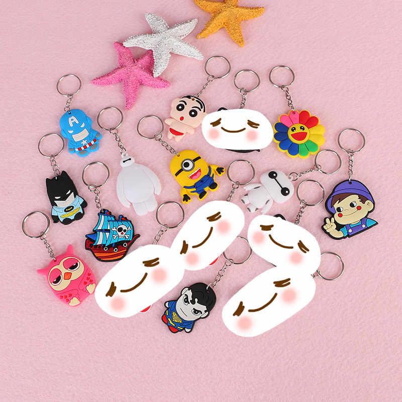 Baymax 1pcs Mickey Minnie Urso Dos Desenhos Animados Titular do Anel Chave Keychain Japonês anime Chaveiro Chaveiro Bolsa charme Jóias