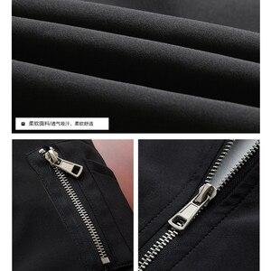Image 5 - Erkekler bombacı ceket ince ince uzun kollu beyzbol ceketleri rüzgarlık fermuar rüzgarlık ceket erkek dış giyim marka giyim 6580