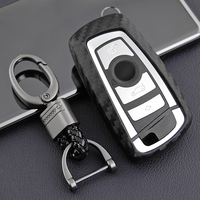 Carbon Fiber Style Silicone Car Key Case Cover For BMW X3 F25 X4 F26 F87 F80 F82/F83 F10 F12/F13 F20/F21 F22/F23 Car Styling|Key Case for Car| |  -