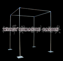 Free Shipping Wedding square pipe stand backdrop stand stage curtain swag pipe 3M*3M*3M