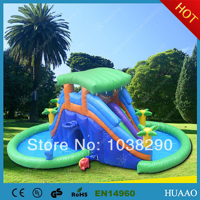 Inflatable Slide Commercial: 2014 Hot Sale Commercial Inflatable Water Slides With Free