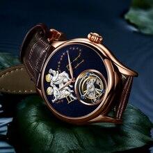 AESOP Mechanical Automatic Watch Men 100% Real Tourbillon Mens Watches Top Brand Luxury Skeleton Clock men Relogio Masculino