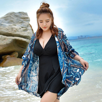 Large Size Summer Beach Push Up Swim Wear Women 2017 Newest Sexy Swimsuit Print Cover Up