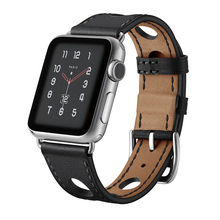 New design Apple Watch strap 3/2/1 38/42mm Leather iWatch Bracelet