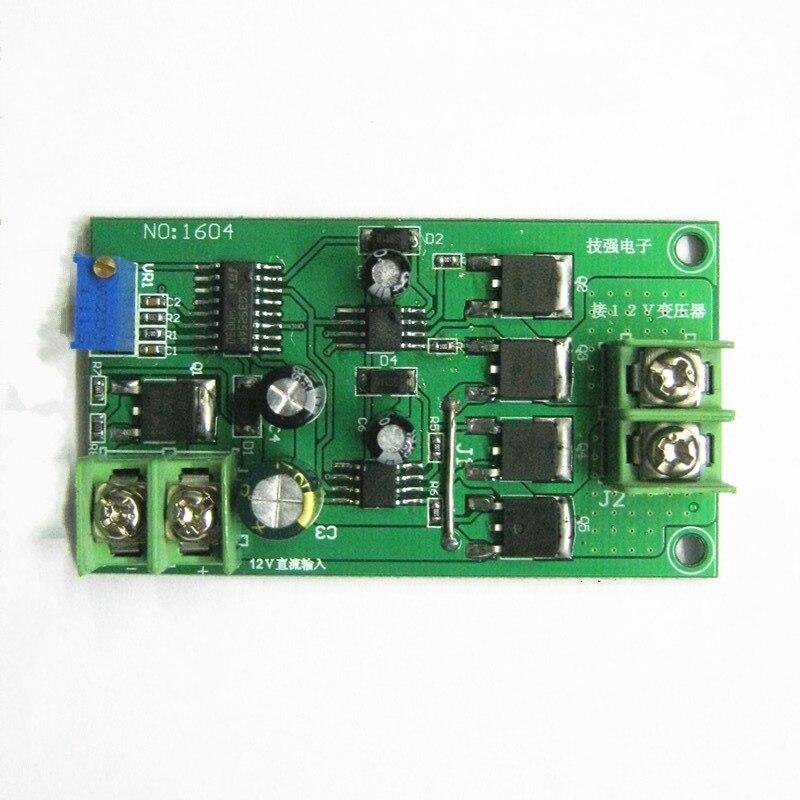 Full-bridge 50HZ bridge 12V inverter drive board direct drive single winding transformer 12V boost 220V