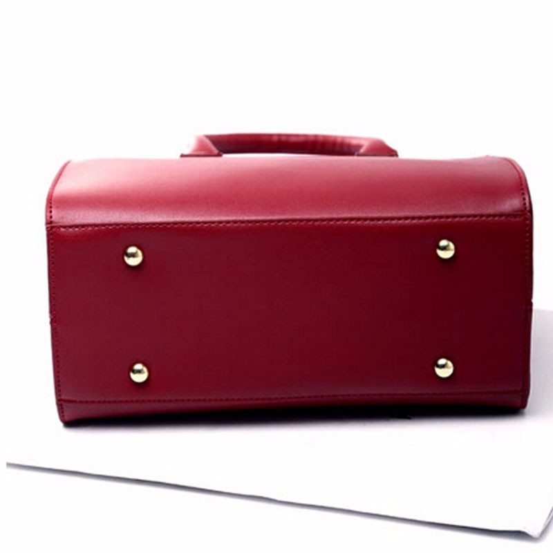 Fashion Women Messenger Bag PU Leather Black Red Wine Handbag Multifunctional Cross Body Bag Big Inner Unique Shape
