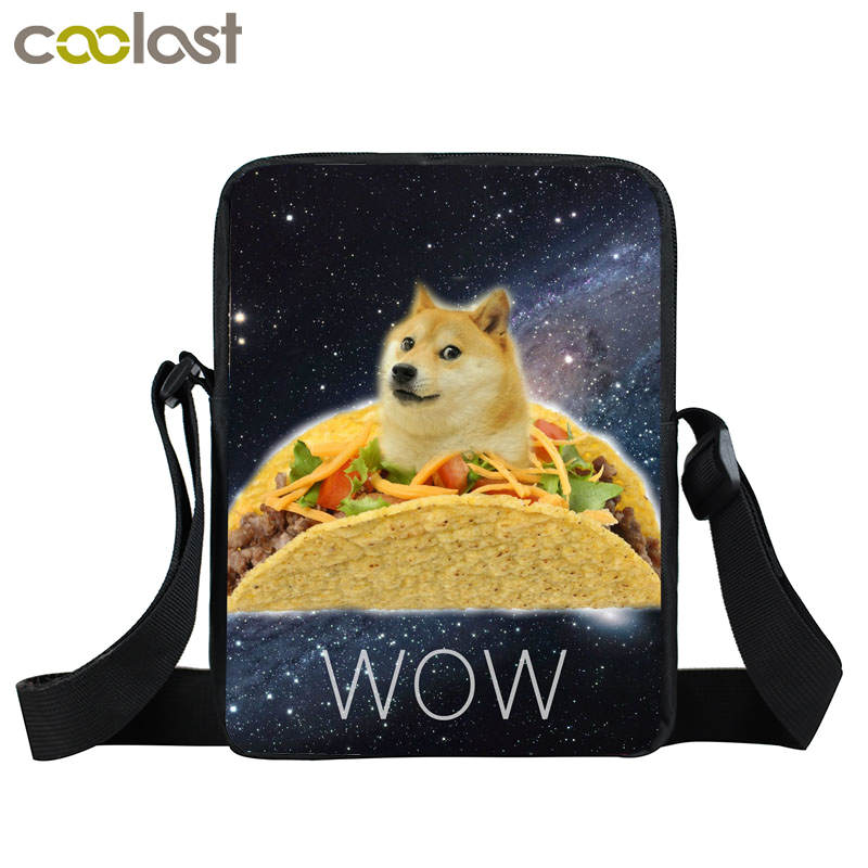 Shiba Inu Mini Messenger Bag Women Hand Bags Kids Kawaii Dog Bags Little Crossbody Bag for Girls Boys Women Satchels