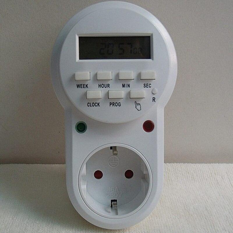 High quality 220v-230V plug in switch socket digital timer converter  Energy-saving programmable timers temporizador EU Plug