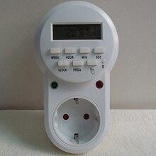 Hohe qualität 220 v-230 V stecker in schalter steckdose digital timer konverter energiespar programmierbarer timer temporizador Eu-stecker
