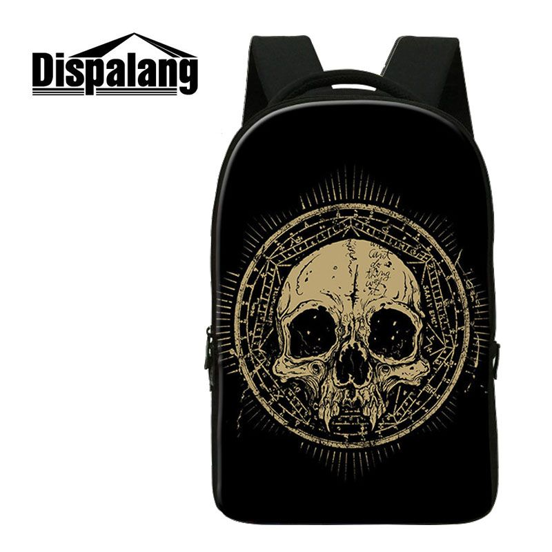 Dispalang Cool Men Punk Rock Women Backpacks Bag Skull Print Backpack School Bag For Teenagers Casual Laptop Travel Shoulder Bag new 3d skull backpack shoulder bags for men printing backpack men punk rock school backpack for men casual school bags for boys