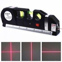 Лазерный уровень Вертикальная измерительная линейная лента Регулируемая многофункциональная стандартная линейка горизонтальные лазеры выравнивание с поперечным лучом светильник
