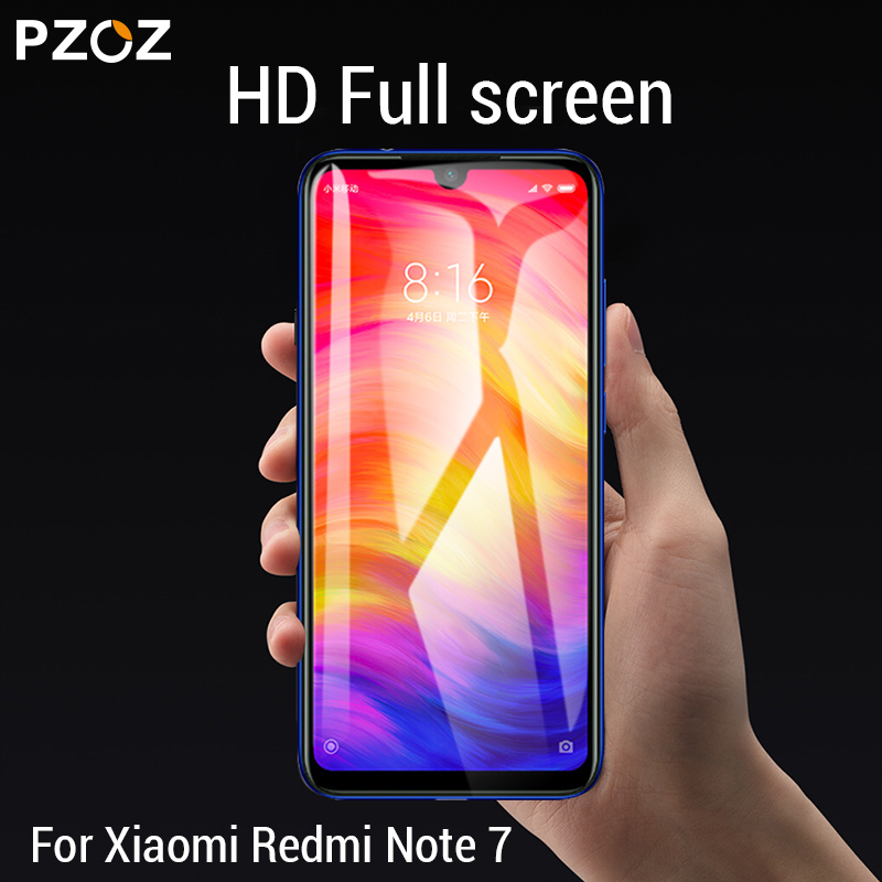 Image 4 - PZOZ For Xiaomi Redmi Note 7 8 K20 Pro 7A Screen Protector Full Cover Tempered Glass For Xiaomi Mi CC9e A3 9 Mi9 Protective Film-in Phone Screen Protectors from Cellphones & Telecommunications