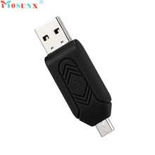 Mosunx Advanced U disk Top Department  and high quality MINI USB 2.0 +OTG Micro SD/SDXC TF Card Reader Adapter U Disk 1PC