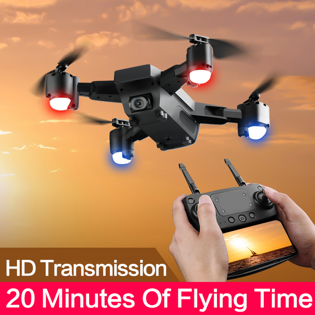 Drone With HD 1080P Wifi Camera Quadrocopter Hovering FPV Quadcopters 5MP Folding RC Helicopter Storage bag toy for boy s20w