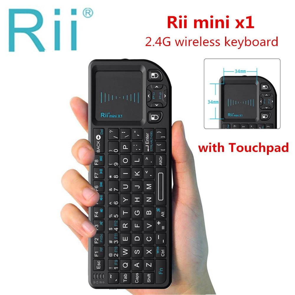 Rii Original mini X1 Teclado Sem Fio 2.4g Fly Air Mouse Touchpad Handheld gaming para smart TV Android tv box PC Portátil HTPC