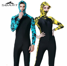SBART Snorkeling Surfing Hooded Wetsuit Swimwear Clothing Men Woman Diving Suit font b Swimsuit b font